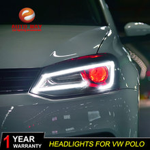 AKD автомобильный Стайлинг Головной фонарь для VW Polo СВЕТОДИОДНЫЙ Фонарь 2011- Новинка Polo DRL H7 D2H Hid опция Angel Eye Bi Xenon луч