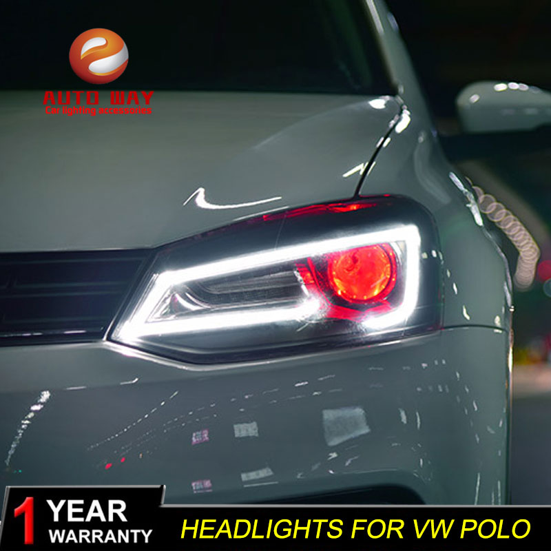 AKD Car Styling Head Lamp for VW Polo LED Headlight 2011-2018 New Polo DRL H7 D2H Hid Option Angel Eye Bi Xenon Beam free shipping for vland car styling head lamp for vw golf 7 headlights led drl led signal h7 d2h xenon beam