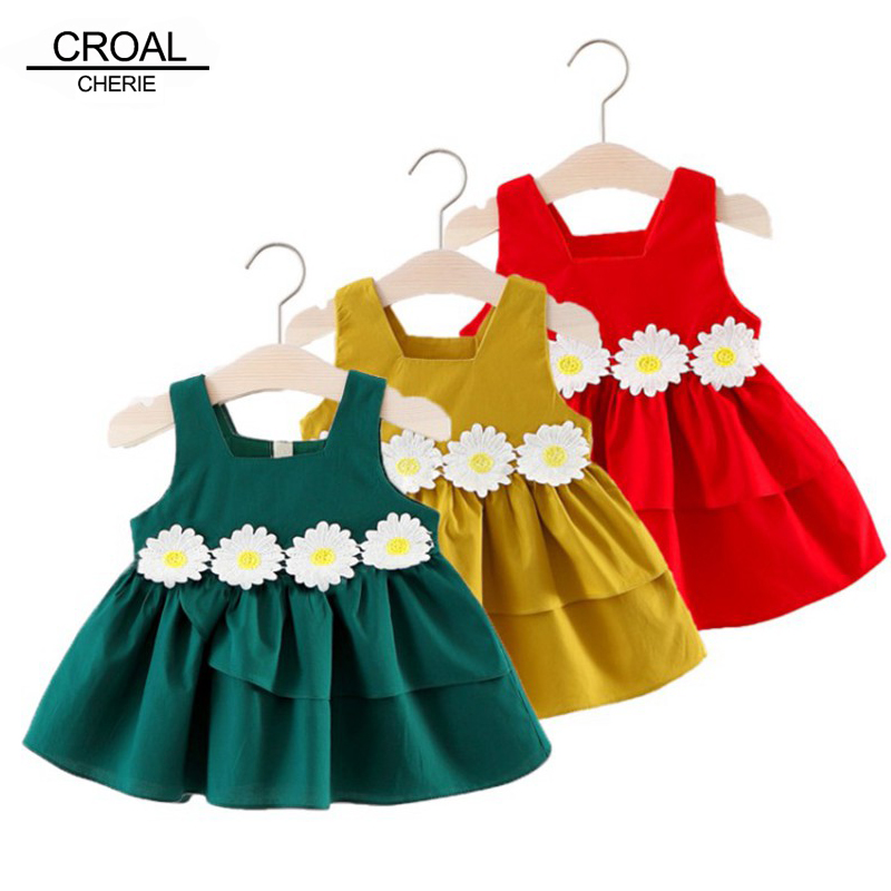 CROAL CHERIE Kids Princess Dresses For Girls 2018 Summer Toddler Girls Summer Clothing A Line Hollow-Out Baby Dress 70-110cm