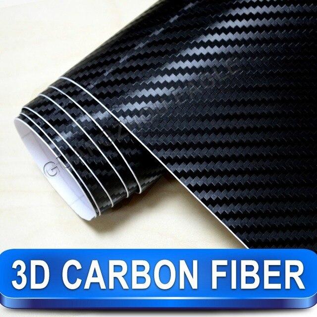 3D Carbon Fiber Car Wrap Vinyl Car Sticker Film / 1.52m x30m Twill Weave Texture Free Shipping Worldwide By Fedex
