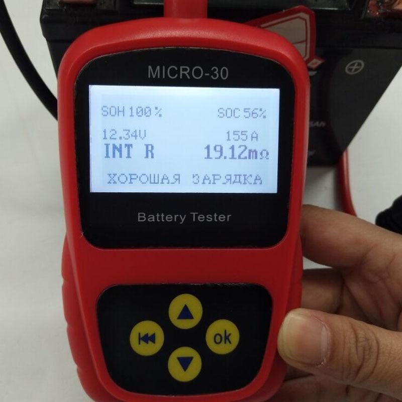 HOT SALE 100% Original LANCOL Car Motorcycle battery Tester Analyzer Car Diagnostic Tool MICRO-30 hot sale digital car battery tester diagnostic tools micro 100 12v car capacity load tester analyzing