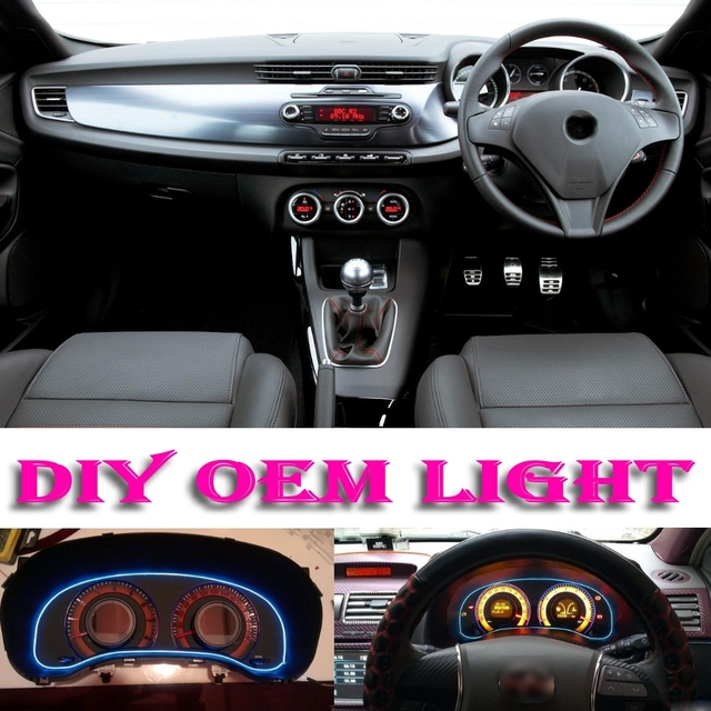 car atmosphere light flexible neon light el decorative decals tags inside tuning for alfa romeo giulietta