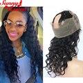 360 Кружева Фронтальная Закрытие 8А Малайзии Девственные Волосы Свободная Волна кружева Фронтальной Для Чернокожих Женщин Кружева Frontals Закрытие С Ребенком волос