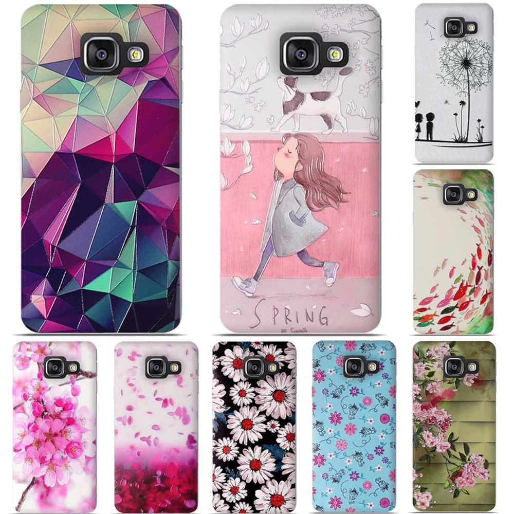 Luxury Cover For Samsung Galaxy A3 2016 A310 A3100 A310F 3D Relief Phone Case For Samsung A3 2016 Soft TPU Back Cover Shell Bag