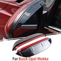 1 Пара Для Buick Opel Mokka 2012-2015 Автомобиль Зеркало Заднего Вида Брови Охватывает Непромокаемые Гибкая Защитная Украшения Аксессуары