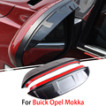 1 Pair For Buick Opel Mokka 2012-2015 Car Rearview Mirror Eyebrow Covers Rainproof Flexible Protection Decoration Accessories
