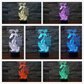 2016 Hot Chinese Style Paper Cut Dragon 3D Night Light 7 Colors Change LED Table Lamp Xmas Gift Ancient Dragon Art Decor Lamp