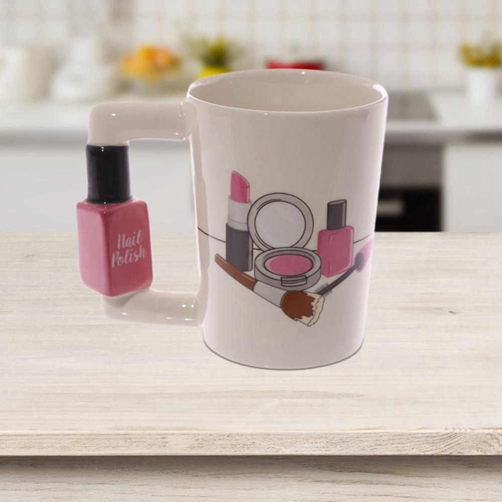 Creativo Tazze di Ceramica Della Ragazza Strumenti di Bellezza Kit Speciali Nail Polish Maniglia Tè Tazza di Caffè Tazza Tazze Personalizzate per le donne del Regalo