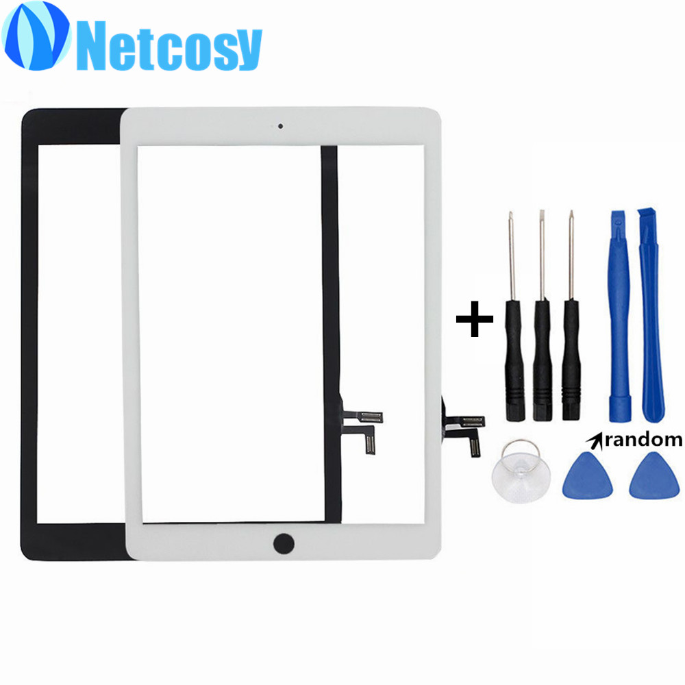 For iPad Air Touchscreen High Quality Black & White Touch Screen Glass Digitizer Repair for iPad 5 tablet touch panel & Tools new replacement repair parts for ipad air 5th for ipad 5 touch screen digitizer