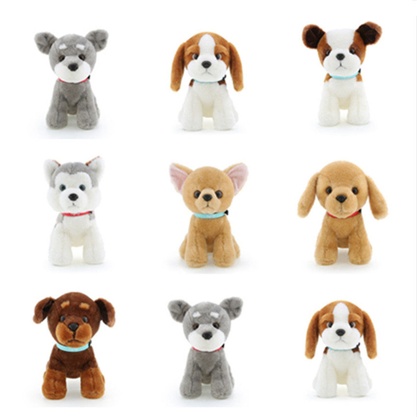 18cm Simulation dog plush toy Husky Bulldog/Buster Dog/Chihuahua/Bernard Dog Soft Stuffed Plush Dolls Kids toys for Children stuffed dog plush toys black dog sorrow looking pug puppy bulldog baby toy animal peluche for girls friends children 18 22cm