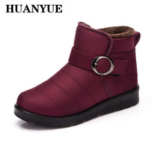 New 2018 Classic Women Winter Boots Waterproof Ankle Snow Boots Warm Fur Plush Insole Platform Shoes High Quality Botas Mujer