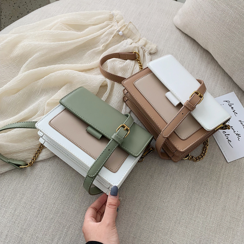 Mini Leather Crossbody Bags For Women 2019 Green Chain Shoulder Messenger Bag Lady Travel Purses and Handbags  Cross Body Bag 8