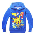 POKEMON GO printed boys tops clothes long sleeve hooded sweaters unisex kid Hoodies children girls cotton Sweatshirts K011810