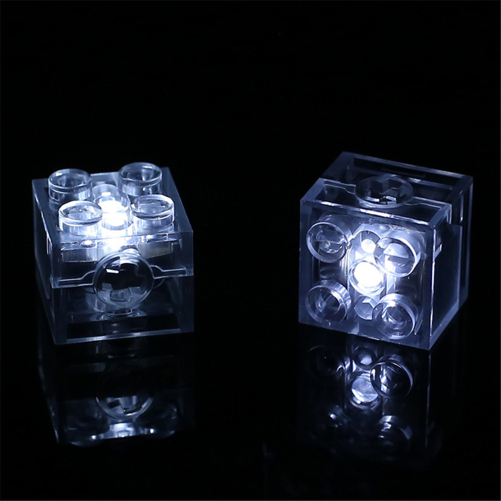 Image 5 - 5pcs/lot Luminous Blocks LED Light Diy Strobe Luminescent Double Flash Lamp Colorful Light Accessories Bricks Toys for Children-in Blocks from Toys & Hobbies