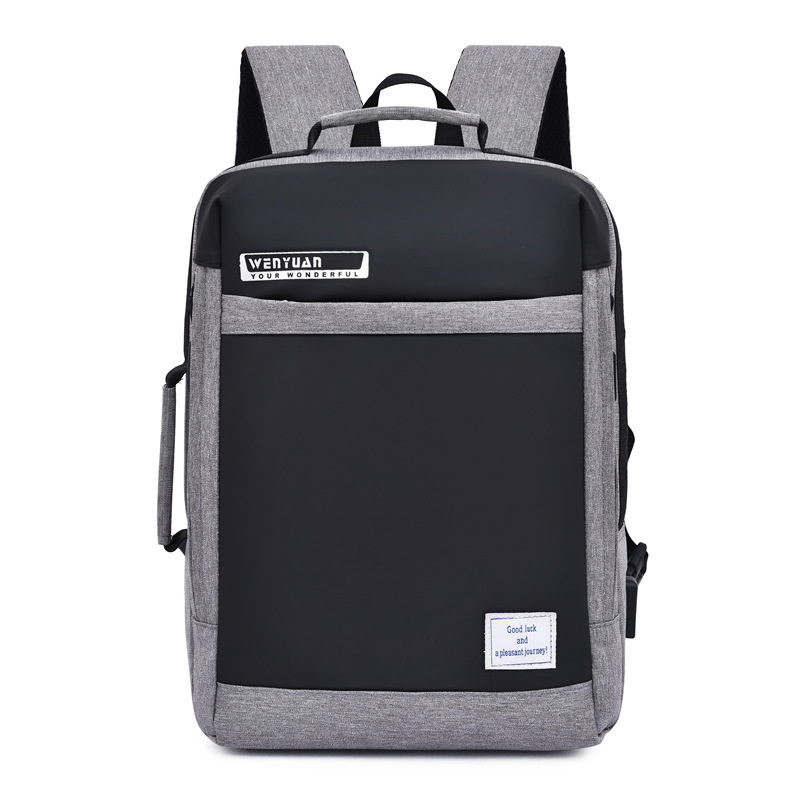 NPASON New Rechargeable Backpack for Men Business Computer Bag Travel Bag Korean Version Fashion High School Students SchoolbagNPASON New Rechargeable Backpack for Men Business Computer Bag Travel Bag Korean Version Fashion High School Students Schoolbag