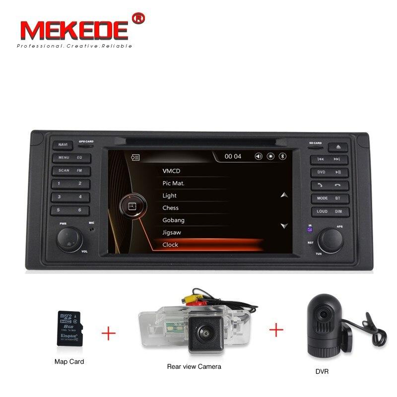 1din 7 capacitif écran Voiture DVD GPS jouer Pour E39 X5 E53 Avec GPS BT Radio stéréo RDS USB SD commande Au Volant canbus