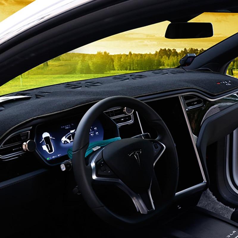 Car Front Dashboard Cover Dashmat for Tesla Model X Dash Mat Pad Sun Shade Carpet Pad Fit For Tesla Model X 2017