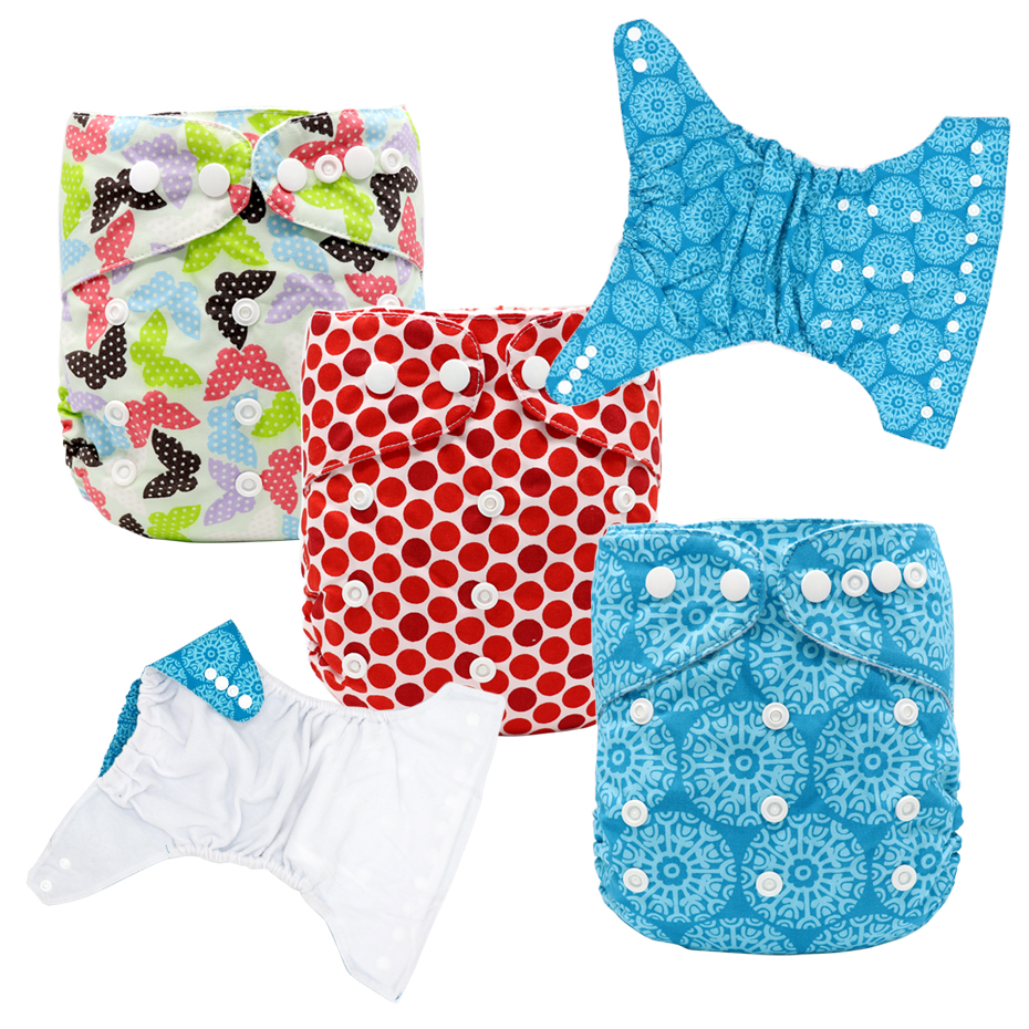 MABOJ Baby Cloth Diaper Washable Diapers Baby Diaper Cover Cloth Nappy Reusable Waterproof One Size Pocket Nappies Dropshipping