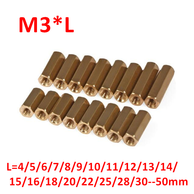 60 12mm Brass standoff PCB board spacing male female 60 bolts 60 nut 120washer