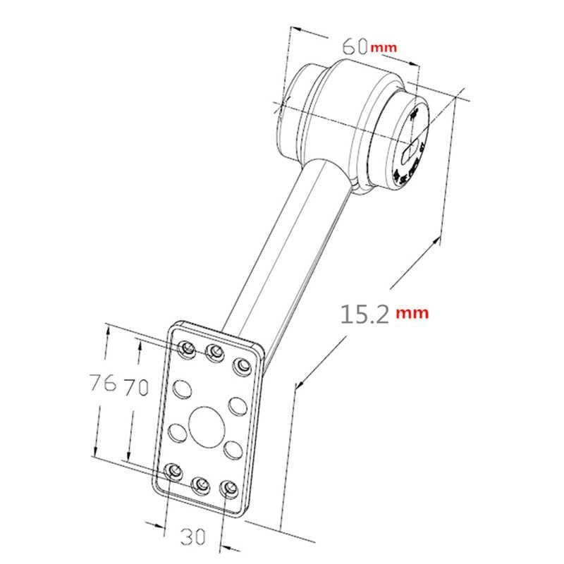 2Pcs 12V Lâmpada LED Luzes de Marcador Lateral Do Caminhão Reboque Haste do Esboço 20CM NJ88