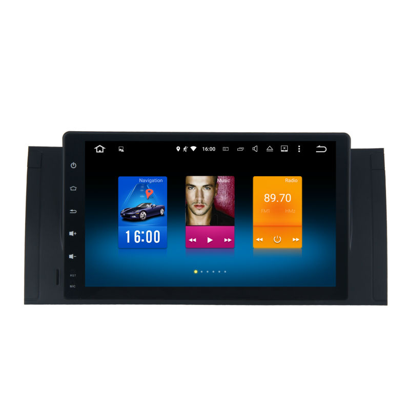 Car 1 din android GPS Navi for BMW E39 E53 M5 autoradio navigation head unit font