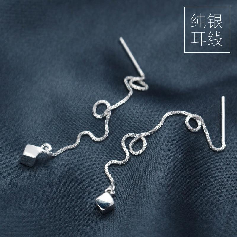 Long 925 Sterling Silver Threader Earrings HniJKnVXX