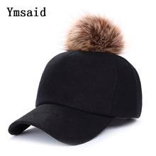 07e6af4848027 Autumn And Winter Men Good Quality Wool Baseball Caps Casua Fur Ball Pompom  Cap Unisex Solid