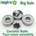1pc Fidget Spinner center Bearing 608 Si3N4 ball ceramic hybrid bearing 608 Slalom Skate Inline Roller Skates Skateboard bearing