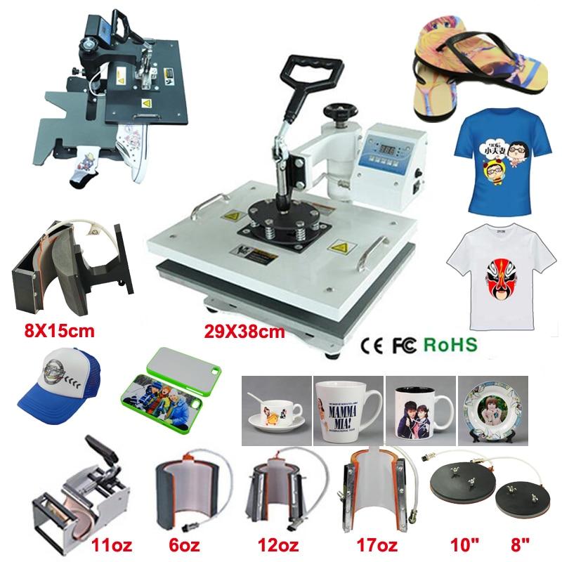 Heat Press Machine 9 in 1 Combo Heat Press Machine Cap Heat Press Machine For Plate/Mug/Cap/TShirt /Phone Case texas cap roig page 9