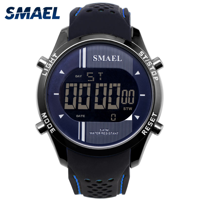 Digital Wristwatches Silicone SMAEL Watch Men Waterproof LED Sports Smart Watch Running Fashion Cool Electronic Watches Man 1283 цена