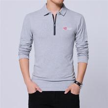 ARCSINX Polo de moda coreana para hombre, Polos ajustados de marca, de talla grande 5XL 4XL 3XL, Polos de manga larga negros para hombre
