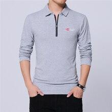 ARCSINX Polo à manches longues noir pour hommes, à la mode, coupe Slim de marque, chemises de grande taille