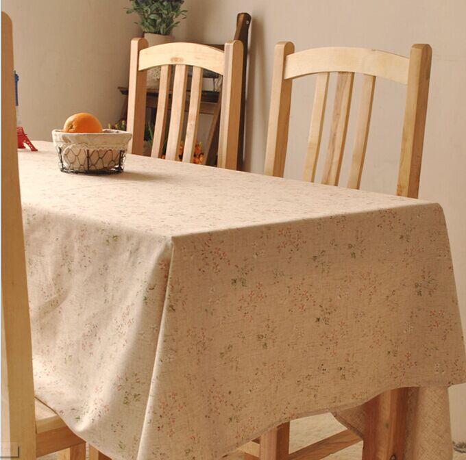 Vintage crown linen table cloth coffee side table towel for Decoration table shabby chic