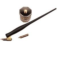 Resin Oblique Calligraphy Dip Pen Set with 2 Nibs 1 Fount Pen Holder Copperplate Script Dip Pen