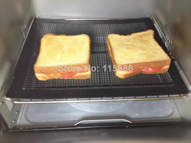 Free Shipping 2 PCS 30X40CM BBQ Mesh Grill Mesh Cooking Sheet PTFE Nonstick Pizza Mesh