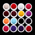 16pcs/set Pure Solid Color Nail Art Acrylic UV Gel for Tips Extension Builder Nail Paiting Drawing Polish Gel Set Manicure Tools