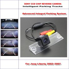 High Quality Intelligentized Car Parking Rear Reverse Camera For Jeep Liberty 2002~2007 / NTSC PAL RCA SONY CCD 580 TV Lines