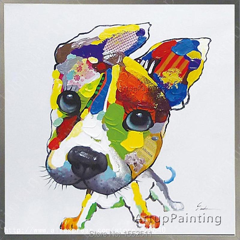 Akril kutyafestés Vászonfestmény Fali művészet Képek a nappali - Lakberendezés
