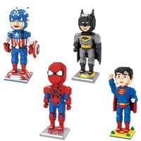 السحرية اللبنات كبيرة الحجم السوبر بطل شخصيات أنيمي الكرتون بناء اللعب المزاد سوبرمان نموذج لعب للأطفال الهدايا لطيف