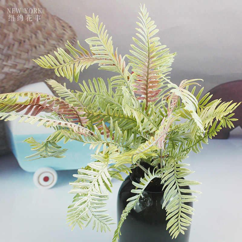 Kunstmatige perzische blad planten nep levensechte plastic bruiloft achtergrond decoraties lysimachia varen bloemen decor