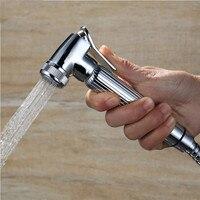 Bathroom Handheld Toilet Bidet Sprayer Washing Pressure Boost Shower Head Flushing Clean Bidets Spray Nozzle Flusher