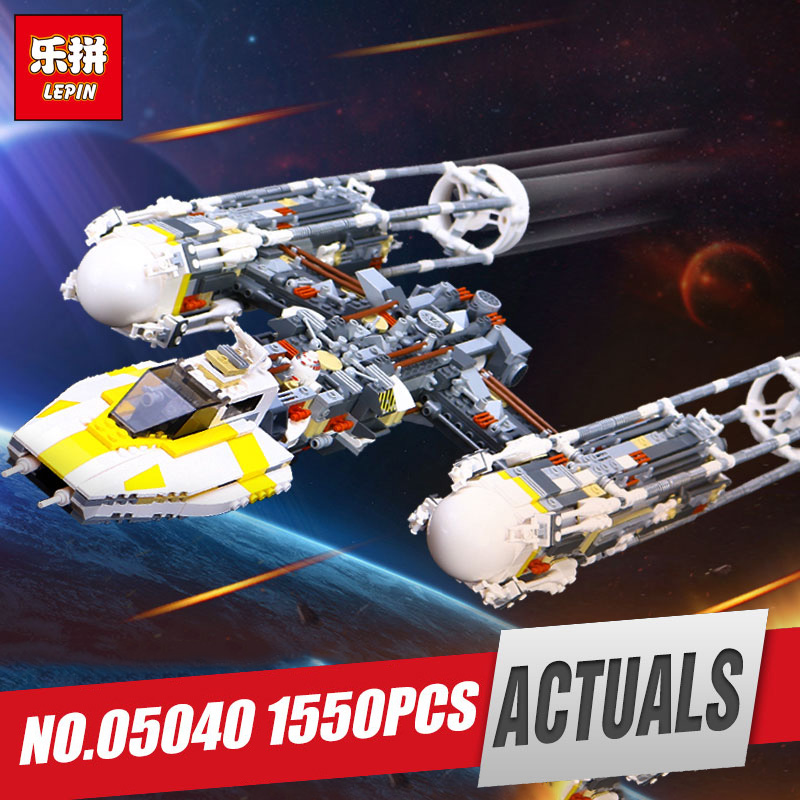 LEPIN 05040 Star Series Wars Y toy wing set Attack fighter Educational Building Block Assembled Brick Compatible legoing 10134 lepin 05040 star series y toy wing set attack fighter educational building block assembled brick compatible with war toys 10134