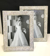 Wedding picture frames Sparkle two-way wedding photo frame Picture photo frame Home decoration Wedding gifts Office decorations giftgarden 5x7 silver alloy classic crown photo frames vintage picture frame table decoration anniversary gift wedding decor