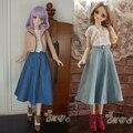 Новый 1/3 BJD SD DD Куклы Платье Темно-Синий/Голубой Ковбой Бюст Юбка/Платье/Одежды