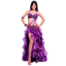 aee29827f5b8 Beautiful Belly dance Suit Big Expansion Full skirt Professional Bellydance  Dress Wear Performance Costume:BRA&Belt&Skirt&Arm