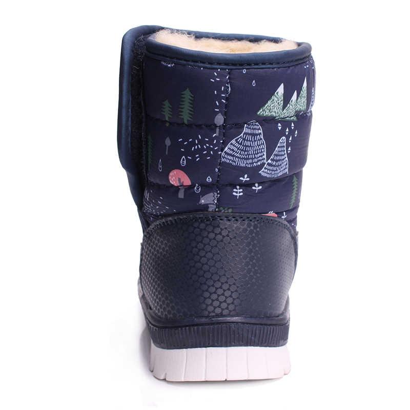 SKHEK botas de niño a prueba de agua para niños y niños, botas de nieve para niños de media pantorrilla, zapatos de invierno para niños