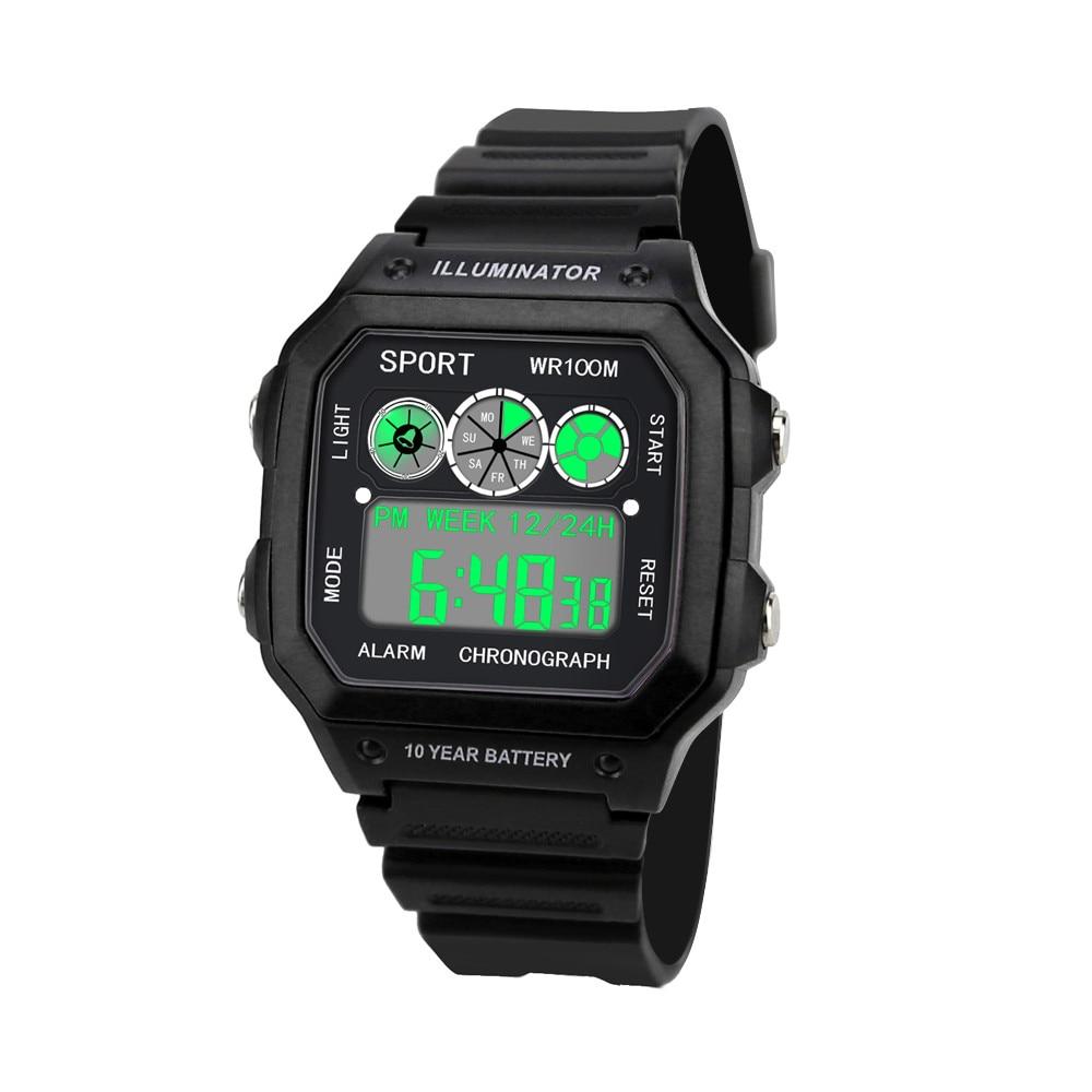 Luxury Men Analog Digital Military Army Sport LED Waterproof Wrist Watch Mens Army Silicone Wrist Watch Clock Hodinky Ceasuri
