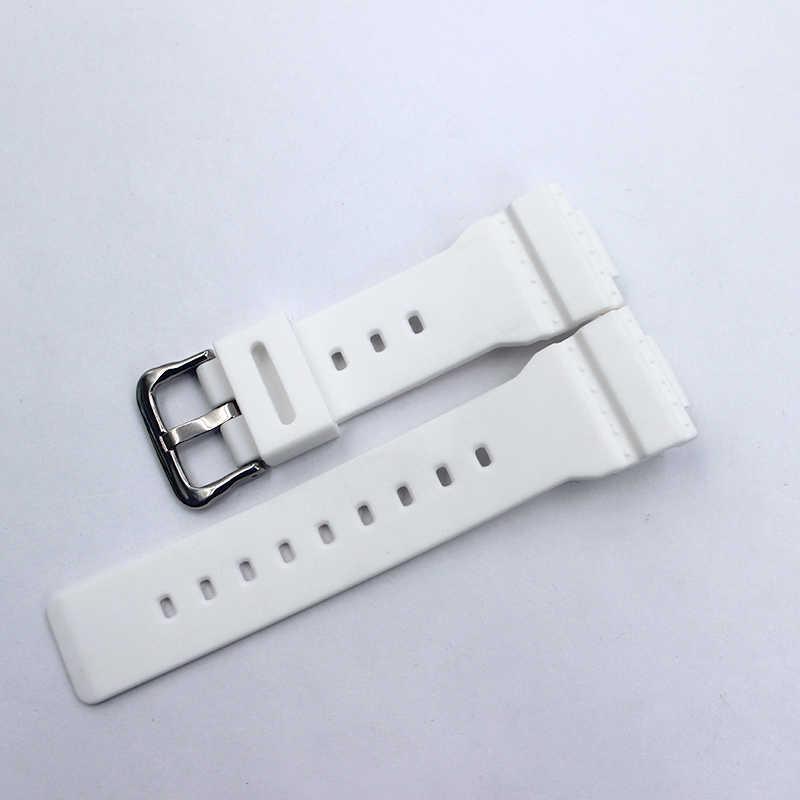 ساعة إكسسوارات قابلة للتطبيق على كاسيو حزام ساعة اليد baby-G للسيدات نمط سيليكون حزام بلاستيك ساعة بحزام مطّاطي
