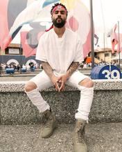 30-36 мужская дизайнерская одежда завод подключение одежда Белый/Коричневый/Зеленый/Черный туман джастин бибер тощий лодыжки молнии джинсы