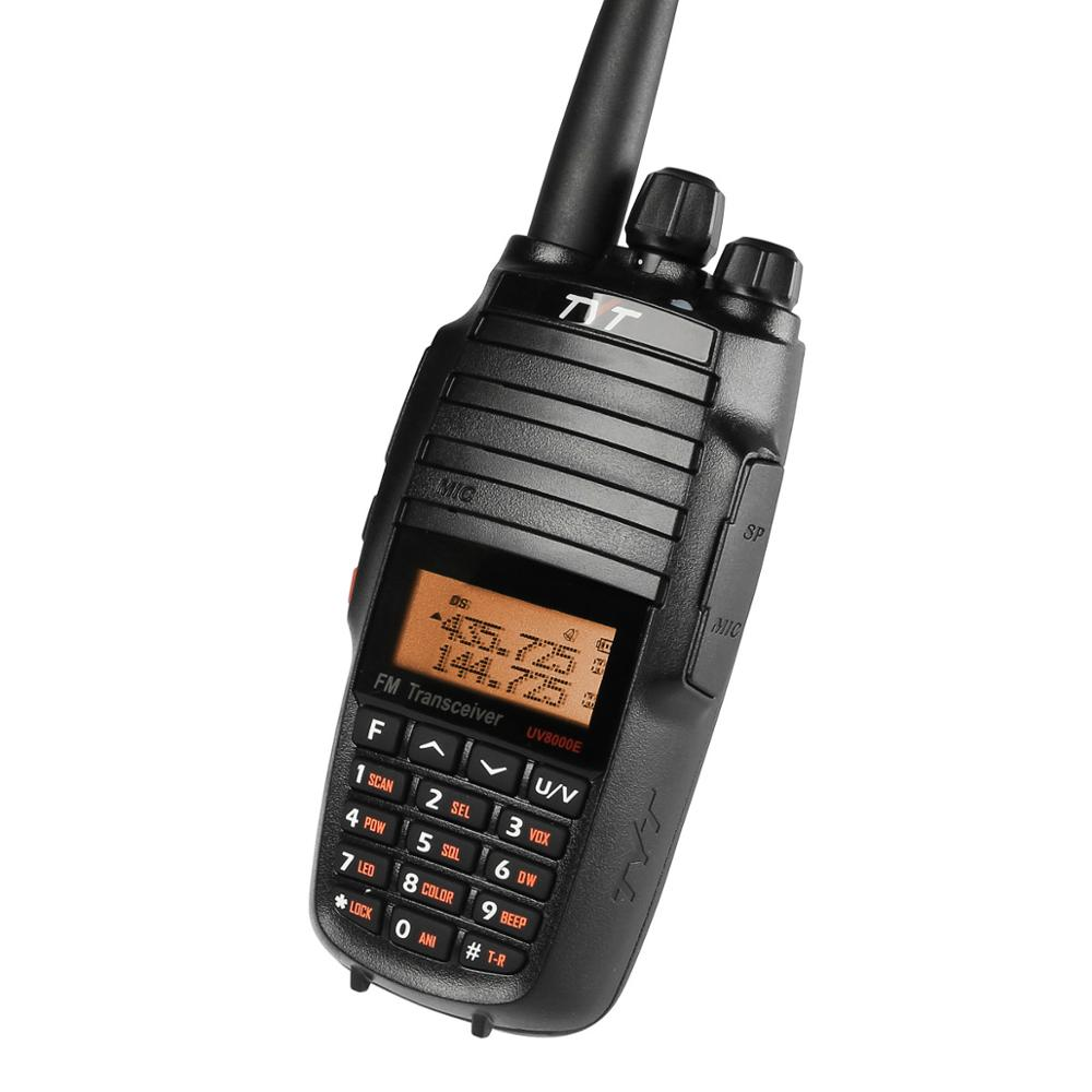 TYT UV8000E Handheld Transceiver Dual Band 10W Cross-band Repeater Black Tri Power 3600mA Transceiver Radio Walkie Talkie Cable